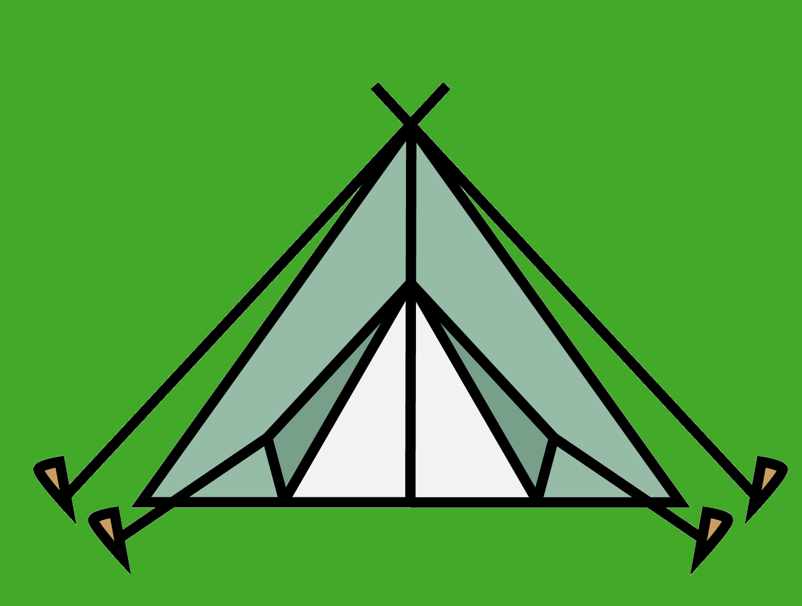 Luxus Camping Zelt Icon